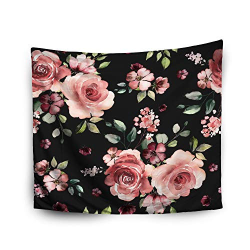 Jacrane Tapestry Wall Hanging with 60x80 Inches Halloween Pattern Spring Flowers Leaves Background Floral Pattern Wallpaper Art Tapestries for Bedroom Living Room Home Decor Wall Hanging Tapestries -