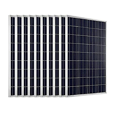 1 KW solar system 10pcs 100W PV Solar Panel ,12 Volt Battery Charging RV, Boat, Off Grid