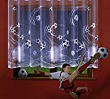 Football Kids Curtains Custom width sold by the metres (Drop: 48' (122cm))