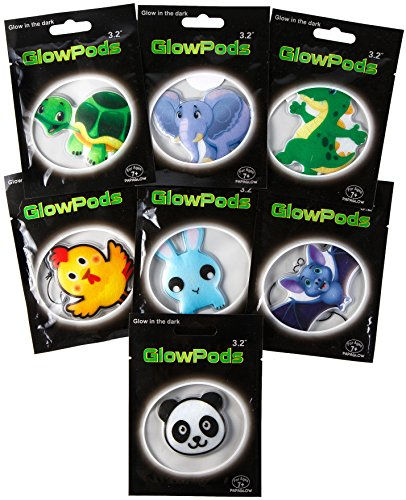 Glow Toys Party Favors - Glow in the Dark Pods and Pendants - Animals Glow Stickers - Set of 7 ps