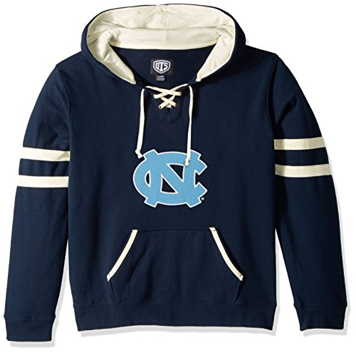 NCAA North Carolina Tar Heels Women's Ots Grant Lace Up Pullover Hood, X-Large, Fall Navy