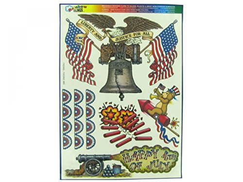 Liberty And Justice Window Clings - Set of 120, [Seasonal, Patriotic & 4th of July] by bulk buys