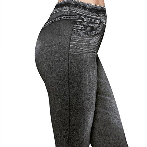 DP Design® Damen Leggings Jeans-Optik schwarz Größe S bis M Leggings Hose