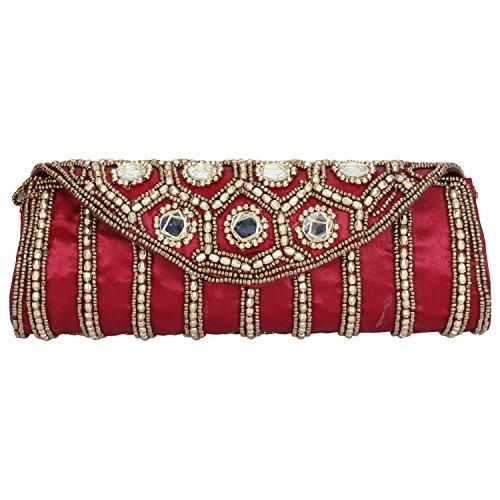 Women Sizzling Hand Jaipuriya Clutch Cum Maroon Style Wedding PPr7wxav