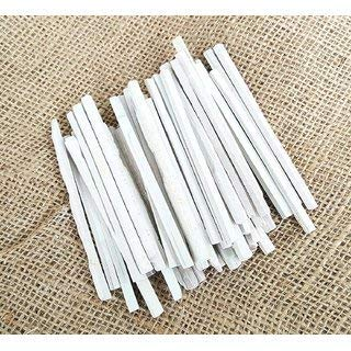 Lightweight Slate - White Slate Pencils, Cut from Natural Stone (Pack of 50pcs)