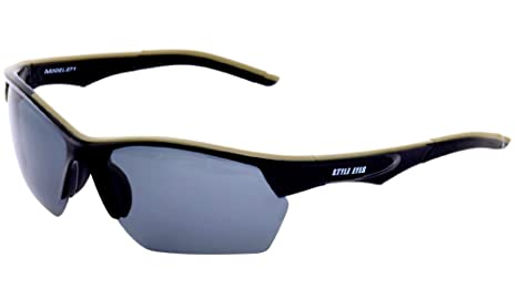 Smoke Style Lens SunglassesBlackPolarized Optics Eyes Tec 34jR5AL