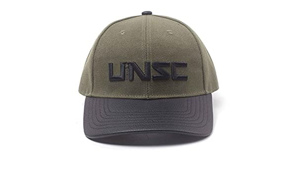 Amazon.com  Halo Baseball Cap UNSC Logo Official Xbox Gamer Green Snapback   Clothing 374ef269662d
