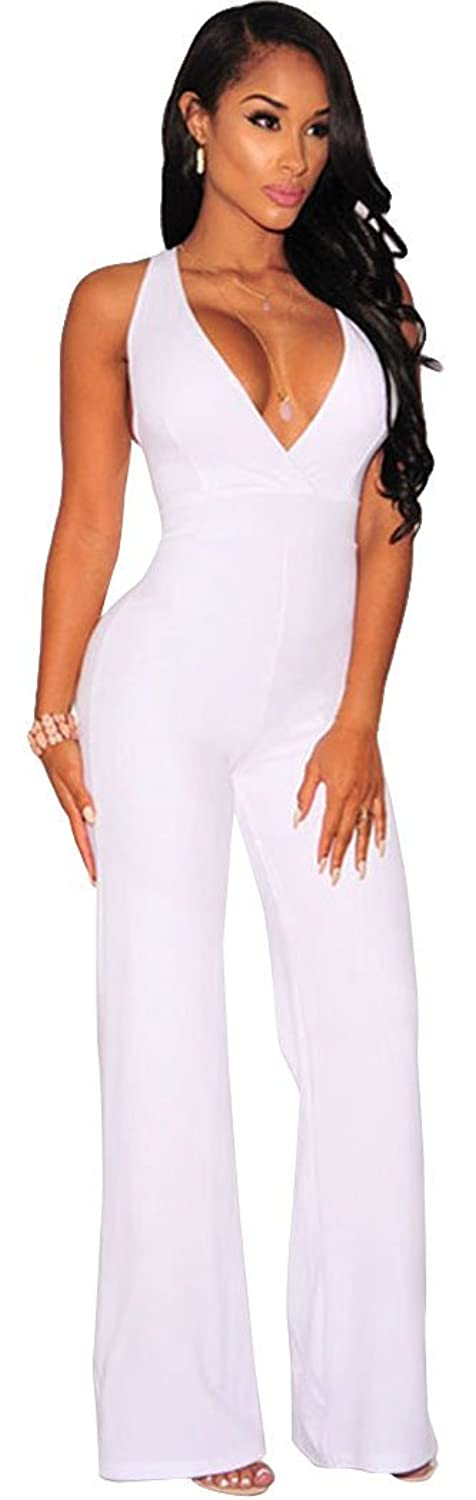 YeeATZ Women Textured Crisscross Back Wide Leg Jumpsuit