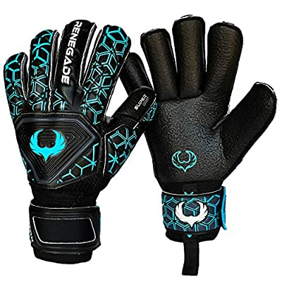 R-GK Triton Goalkeeper Gloves with Pro-Tek Fingersaves (Extra Durable) - Improve Any Soccer Goalie's Confidence & Performance - 3 Styles/Cuts, Sizes 5-11 - Adult & Youth, Competition Level