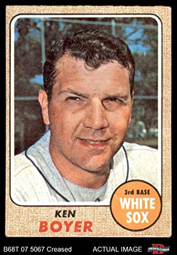 1968 Topps # 259 Ken Boyer Chicago White Sox (Baseball Card) Dean's Cards 3 - VG White Sox