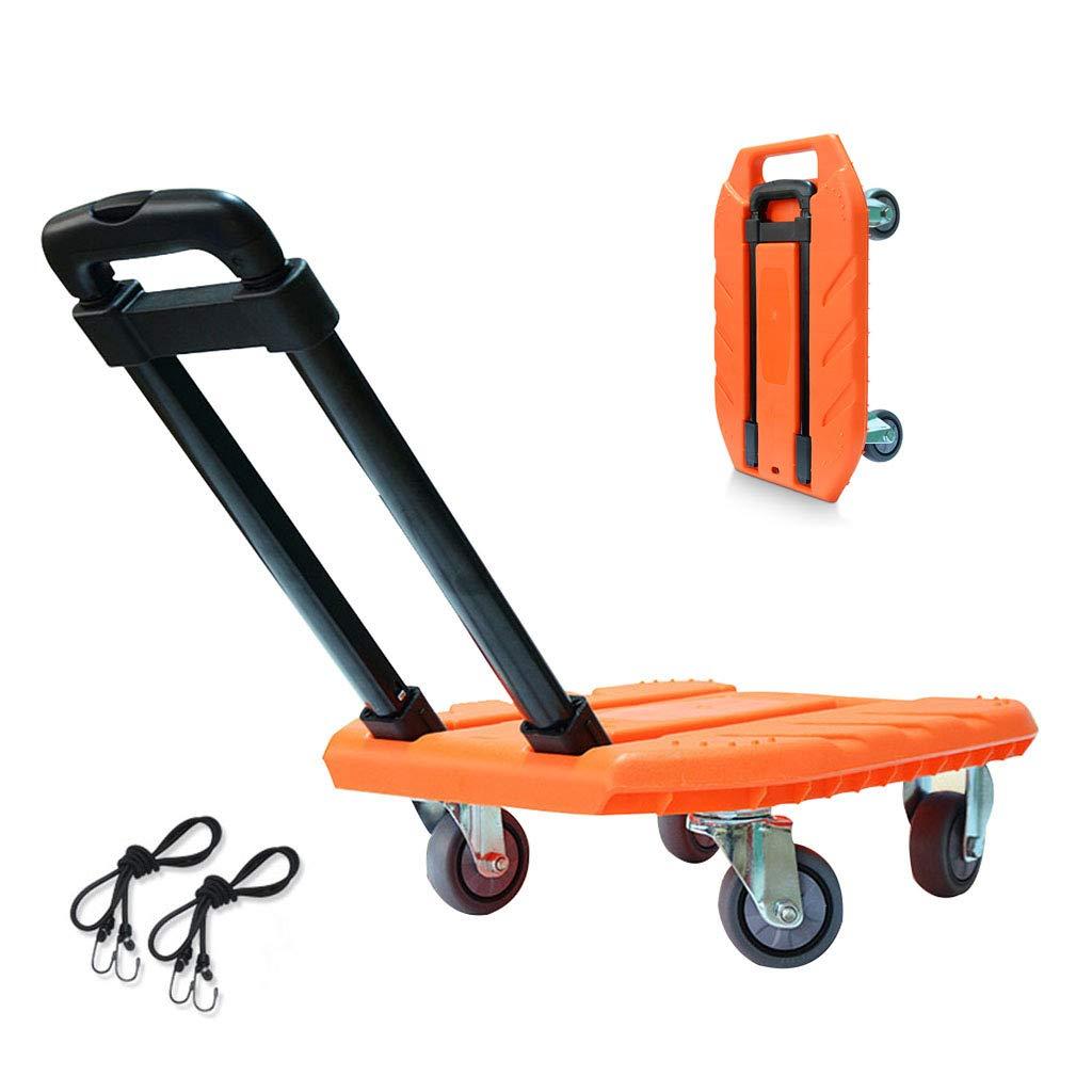 収穫台車キャリー 折りたたみトロリー荷物カートトロリー家庭用トラックショッピングカート屋外用ガーデントロリー実用的なサックトロリー、重量約120kg (Color : Orange, Size : 50*35*94cm) B07MS7P97L Orange 50*35*94cm