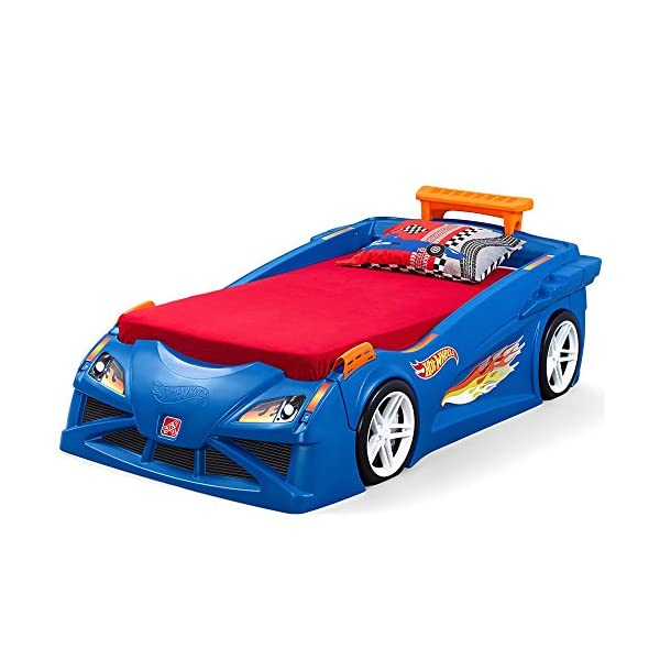 Step2 Hot Wheels Toddler to Twin Bed with Lights Vehicle 1