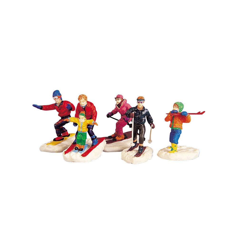 Lemax Village Collection Winter Fun Set of 5 Skiing 92357