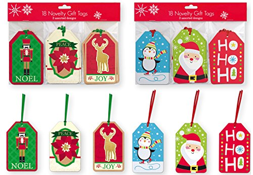 Christmas Gift Hang Tags - 36 Count Christmas Gifting Tags, Holiday Gift Labels Gifting Supplies