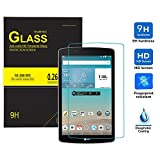 IVSO LG G Pad X 8.0 Tempered-Glass Screen Protector with [Crystal Clearity] [Scratch-Resistant] [No-Bubble Easy Installation] for LG G Pad X 8.0 (V521WG)/G Pad III 8.0 Tablet(1pcs)