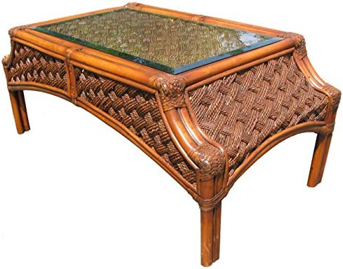 Spice Islands Mauna Loa Coffee Table, Brown Wash