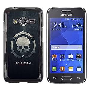 Caucho caso de Shell duro de la cubierta de accesorios de protección BY RAYDREAMMM - Samsung Galaxy Ace 4 G313 SM-G313F - Dead De Sound DDS