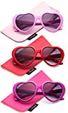 Newbee Fashion - Kyra Kids Girls Fashion Heart Shaped Sunglasses Vintage Cute Heart Sunglasses for Girls UV Protection