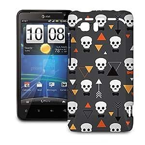 Phone Case For HTC Vivid - Geometric Skulls Snap-On Premium