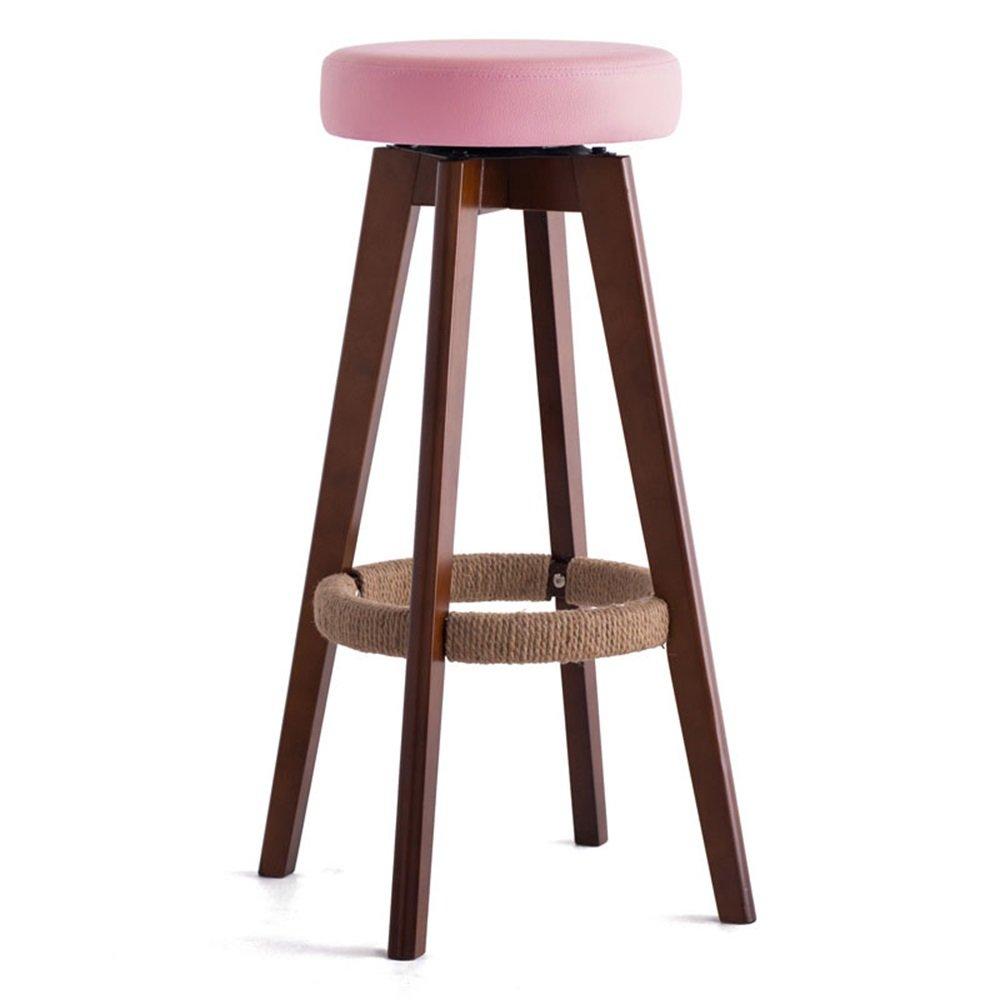 カウンターチェア木製の回転シート椅子ハイスツールバーキッチン朝食スツールノルディックシンプルスタイルピンク (色 : #2, サイズ さいず : 45cm*45cm*65.5cm) B07DHKNB7L 45cm*45cm*65.5cm|#2 #2 45cm*45cm*65.5cm