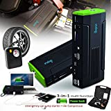 Indigi 12800mAh Power Bank iPhone Tablet Laptop Camera Emergency Car Jump Starter Tire Compressor - Emergency power back up at home and in your vehicle.