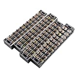 uxcell 4 Pcs 10 Positions Dual Rows 600V 45A Wire Barrier Block Terminal Strip TB-4510