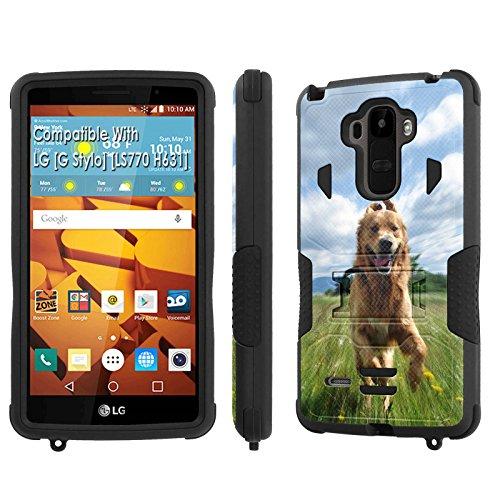 LG [G Stylo] Tough Case [SlickCandy] [Black/Black] Hybrid Combat [Kick Stand] [Shock Proof] Phone Case - [Hunting Games] for LG [G Stylo] [LS770 H631] -  SlickCandy for LG [G Stylo], P-LGLS770-1E1-BKBK-VRI-P045