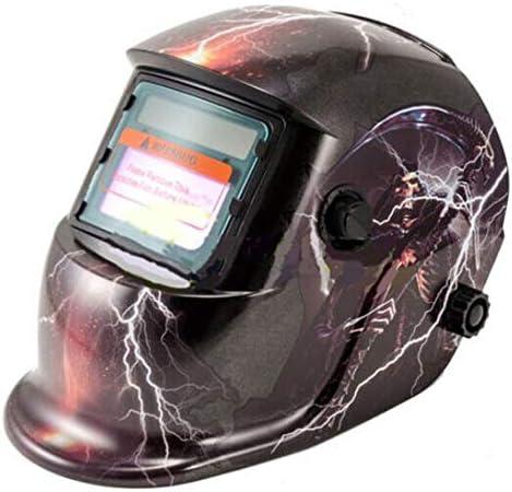 Casco de seguridad solar montado en la cabeza Soldadura fotoeléctrica automática Protección contra la radiación Tapa de soldadura Máscara protectora - Multicolor