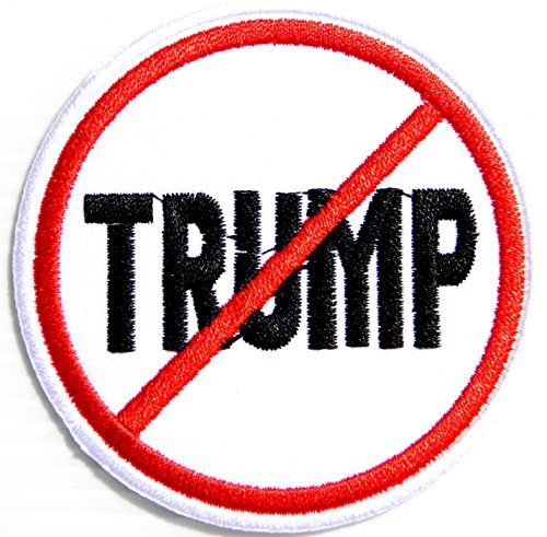 NO TRUMP ANTI Funny Motorcycles Outlaw Hog MC Biker Punk Rock T-shirt Patch Sew Iron on Embroidered Applique Sign Badge