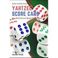 Yahtzee Score Card: Handheld Score Sheet Dice Game