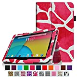 Fintie Dragon Touch A1X Plus / Dragon Touch A1X Plus II 10.1 Folio Case - Premium PU Leather Cover with Stylus Loop for Dragon Touch A1X Plus 2016 Edition / A1X Plus II / A1X / A1 10.1-Inch Android Tablet, Giraffe Magenta