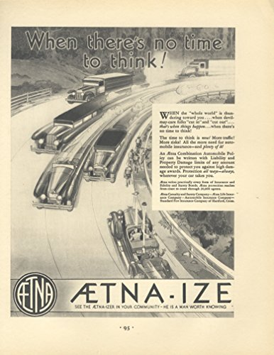 1930-ad-aetna-casualty-and-surety-life-insurance-motor-car-chaos-accidents-original-vintage-advertis