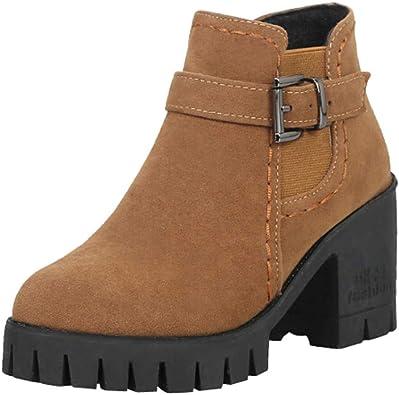 Rawdah Botas Mujer Invierno Botas de Mujer Zapatos de Mujer