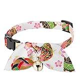 Necoichi Kimono Ribbon Cat Collar (White)