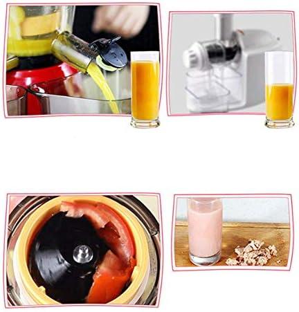 WJJ Presse-Agrumes à Mastication Lente, Automatique, Conception sûre, Multifonctionnel, Facile à Utiliser et à Nettoyer, adapté à la Cuisine et au Bureau, Rouge