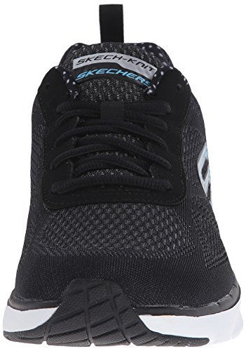 Skechers Air Infinity, Baskets Basses Femme Noir (black/white)
