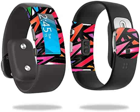 MightySkins Skin Compatible with Microsoft Band 2 Cover wrap Sticker Skins Color Bomb