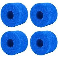 Filtro de Espuma para Piscina, 4 Cartuchos de Esponja de Filtro para Intex S1, Esponja Espumosa Esponja de Limpieza…