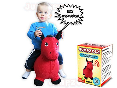[Jumpzeez Inflatable Riding Horse with Real Neigh Sounds and Pump & Plug Remover] (Bouncy Ball Costume)