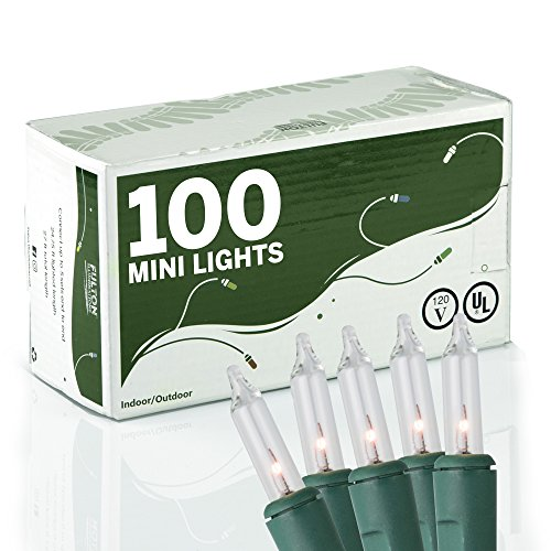 Clear Miniature Christmas Lights Set of 100 - Mini String - 100 Mini Pink Lights