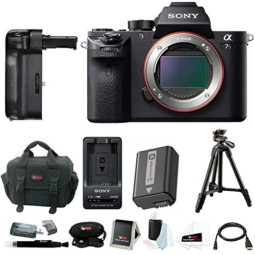 Sony Alpha a7SII Mirrorless Digital Camera with Vertical Gri