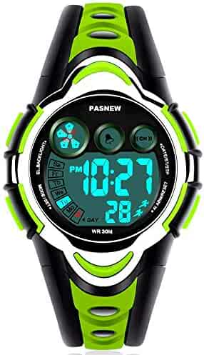 Waterproof Boys/Girls/Kids/Childrens Digital Sports Watches for 5-12 Years Old