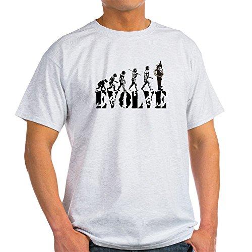 (CafePress Tuba Sousaphone Evolution Light T-Shirt 100% Cotton T-Shirt Ash Grey)