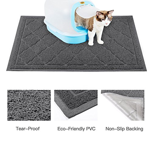 ALTMAN Cat Litter Mat Non-Slip Jumbo Size(38'' x 23'') Kitty Mat, Traps Litter from Box and Paws, Soft on Sensitive Paws and Easy to Clean by ALTMAN (Image #2)