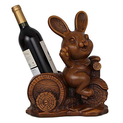 Wine Bottle Holder Storage, Cute Rabbit Wine Rack, Decoration Living Room Wine Cabinet Decoration American Restaurant Wine Bottle Storage Cartoon