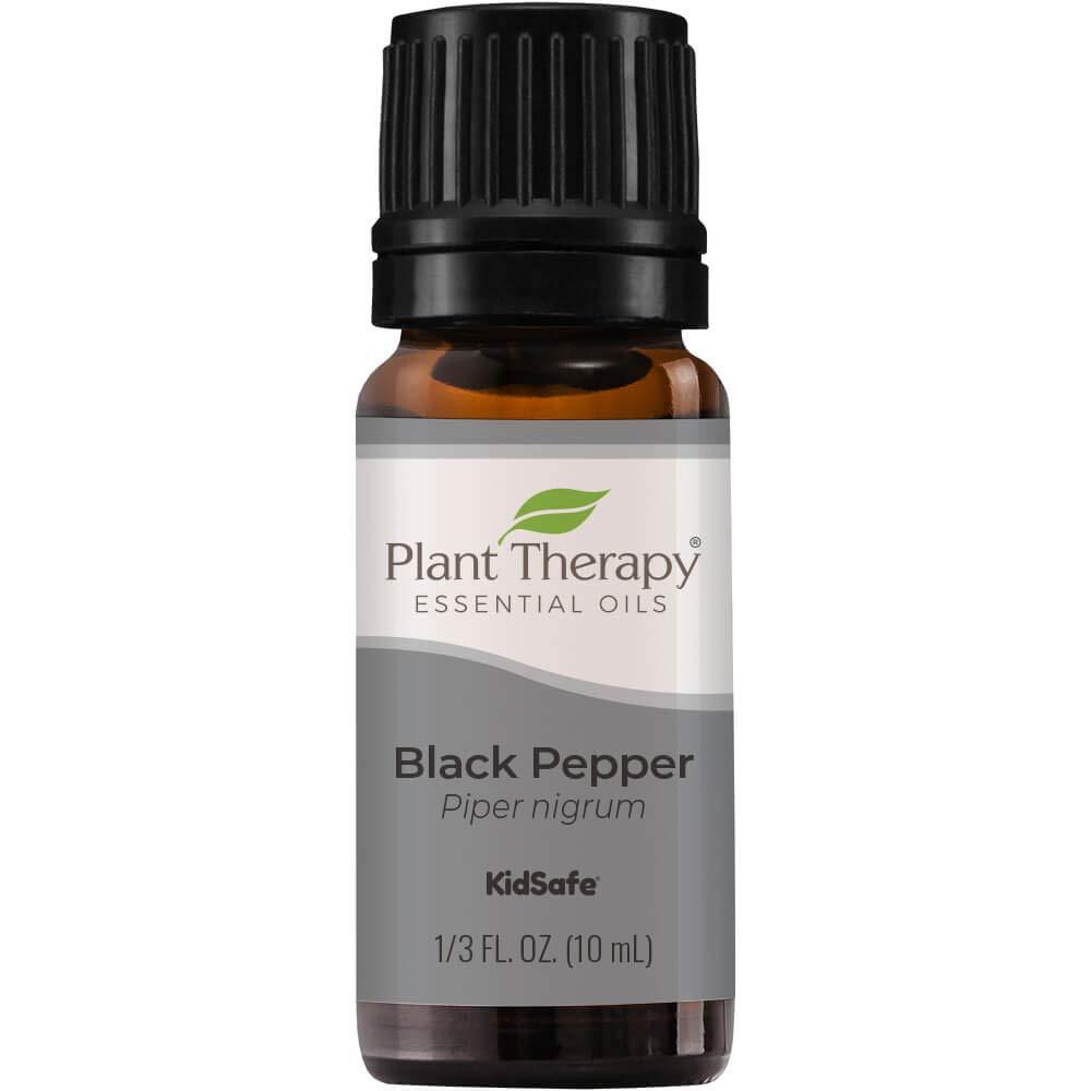 Plant Therapy Black Pepper Essential Oil 10 mL (1/3 oz) 100% Pure, Undiluted, Therapeutic Grade