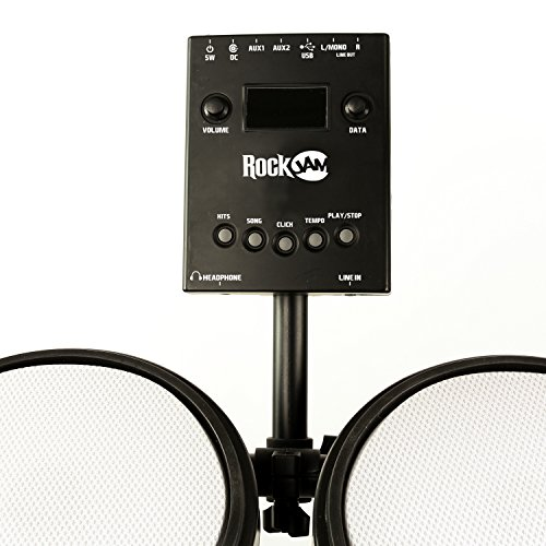 RockJam Mesh Head Kit, Eight Piece Electronic Drum Kit with Mesh Head, Easy Assemble Rack and Drum Module including 30 Kits, USB and Midi connectivity by RockJam (Image #3)