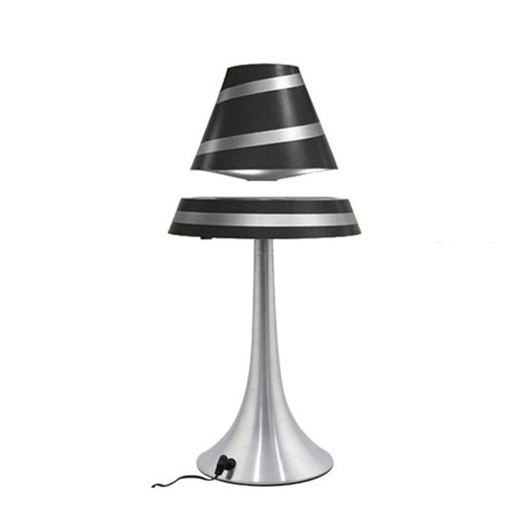 Amazing Magnetic Floating Spinning LED Lights Table Desk Lamp Night Lighting Home  Office Decoration Black Strap     Amazon.com