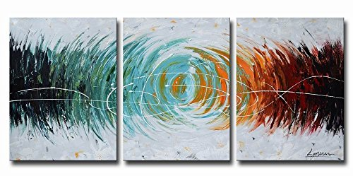 """ARTLAND Modern Abstract Painting on Canvas """"Colorful Space"""""""