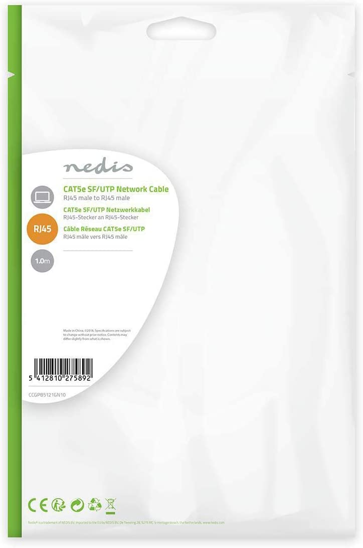 Nedis Cat 5e SF//UTP Network Cable RJ45 Male 1.0 m RJ45 Male Green